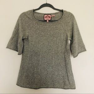 Juicy Couture Gray Cashmere Sweater
